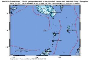 Gempa Bumi Guncang Kepulauan Sangihe, Ini Analisa PVMBG
