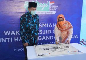 Jelang Ramadhan, Masjid Wakaf Karyawan dan Manajemen XL Diresmikan