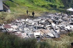 Lagi, KKB Bakar Honai dan 3 Rumah Guru di Dombet Beoga Papua