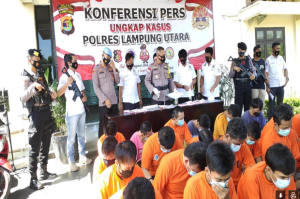 Dalam 2 Pekan, Polres Lampung Utara Ciduk 31 Tersangka Narkoba