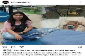Unggahan Foto Gadis Cantik yang Dibakar Pacarnya Sendiri Gemparkan Cianjur