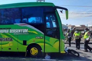 Tragis, Dua Lansia Tewas Diseruduk Bus Pariwisata di Ring Road Utara Sleman