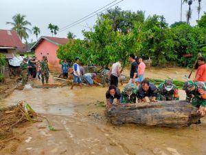 28 Rumah Terendam Banjir di Aceh Tenggara, TNI Terjun Evakuasi Korban
