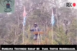 Markasnya Digempur Pasukan Elit TNI-Polri, Panglima TPNPB OPM Thitus Murib Kwalik Sebar Video Propaganda