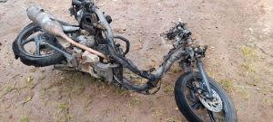 Apesnya Kurir JNT di Bangka Tengah Ini, Motor Terbakar Paket Konsumen Pun Ludes