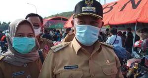 Ribuan Pemudik Berkerumun di Pelabuhan Bakauheni, Bupati Nanang Pertanyakan Pemeriksaan Daerah Asal