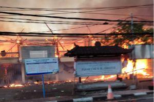 Pasar Blahbatuh Bali Terbakar Hebat