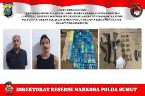 Gempar, Bandar Narkoba Bersenjata AK47 dan M16 Diringkus Saat Bawa 89 Kg Sabu
