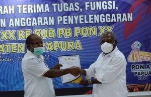 PB PON XX Papua Salurkan Anggaran Rp94,8 Miliar ke Subkabupaten Jayapura
