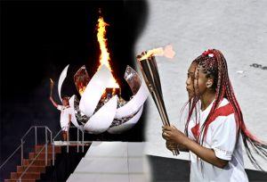 Momen Naomi Osaka Nyalakan Kaldron Olimpiade Tokyo 2020