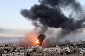 Israel Bombardir Gaza setelah Diserang Balon Pembakar