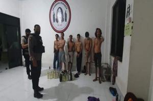 Pesta Miras di Islamic Centre Pangkep, Sejumlah Pemuda Gondrong Dijaring