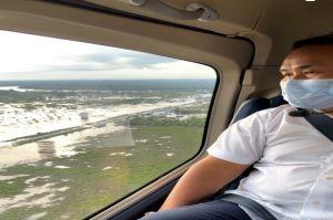 Gubernur Kalteng Melakukan Pemantauan Banjir Melalui Udara