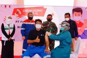 Dukung Percepatan Kekebalan Komunal, PEPC-TNI Gelar Serbuan Vaksinasi Proyek Gas JTB