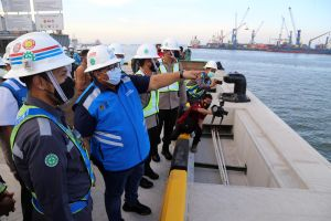 Perkuatan Struktur Dermaga Terminal Berlian Surabaya Capai 75 Persen