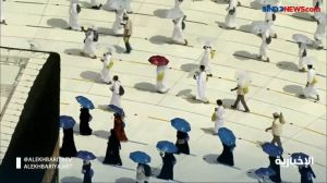 Penampakan Tawaf Ibadah Haji dalam Masa Pandemi di Masjidil Haram
