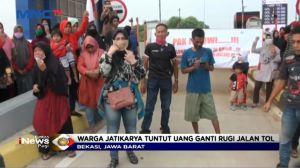 Tak Kunjung Dibayar Warga Jatikarya Blokir Tol Cimanggis-Cibitung