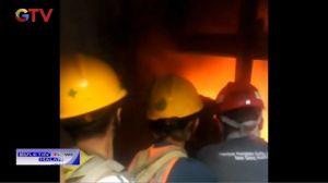 Diduga Terciprat Percikan Api Las, Lift Basement Gedung DPR Terbakar