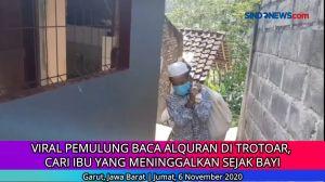 Viral Pemulung Baca Al-Quran di Trotoar, Mencari Ibu Kandung