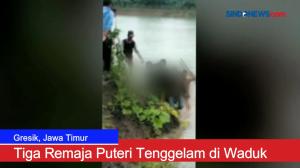 Hujan Deras, Tiga Remaja Puteri Tenggelam di Waduk Cerme Kidul