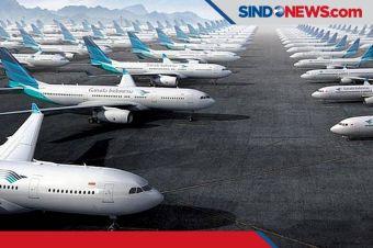 Penerbangan Berkurang, Garuda Indonesia Kandangkan 70% Pesawatnya