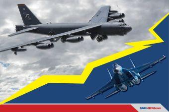 Pembom B-52 AS Dicegat SU-27 Rusia dalam Jarak 30 Meter, AS Marah