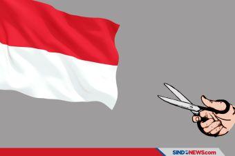 Bendera Merah Putih di Gunting-gunting, Viral di Medsos