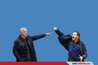 Jose Mourinho dan Frank Lampard Bersitegang di Pinggir Lapangan