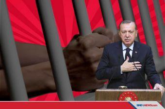 Menghina Erdogan, Ribuan Orang Masuk Penjara di Turki