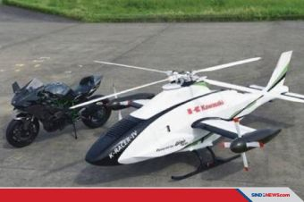 Kawasaki Ciptakan Helikopter Tak Berawak Menggunakan Mesin H2R