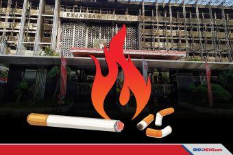 Kebakaran Gedung Kejagung Disebabkan Puntung Rokok