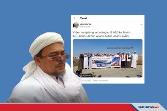 Video Selamat Jalan Habib Rizieq ke Indonesia Viral di Medsos