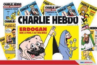 Charlie Hebdo Kembali Berulah; Pajang Kartun Cabul Erdogan