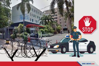 Polisi Siaga Lakukan Penjagaan di Kedutaan Besar Prancis