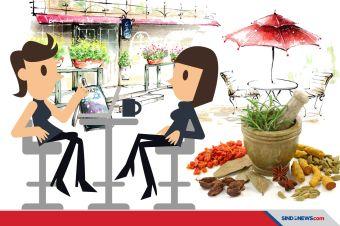 Kafe Jamu Unik Jadi Tempat Kongkow Vlogger Buat Bikin Konten