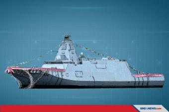 Peluncuran Kapal Perang Fregat Siluman Terbaru Milik Jepang