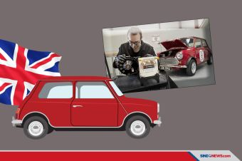 Swindon Powertrain Sulap Mini Klasik Jadi Mobil Listrik