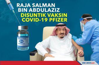 Raja Salman Bin Abdulaziz Disuntik Vaksin COVID-19 Pfizer