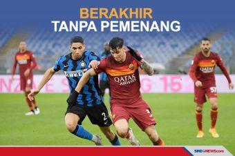 Big Match AS Roma vs Inter Milan Berakhir Tanpa Pemenang