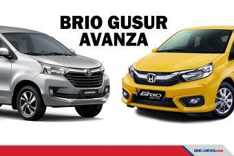 Honda Brio Geser Avanza sebagai Mobil Terlaris di Indonesia
