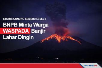 Gunung Semeru Level II, BNPB Minta Waspada Banjir Lahar Dingin