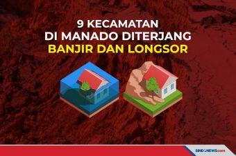 9 Kecamatan di Manado Diterjang Banjir dan Longsor