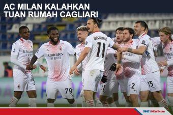 Ibra Borong Dua Gol, AC Milan Sukses Kalahkan Tuan Rumah Cagliari
