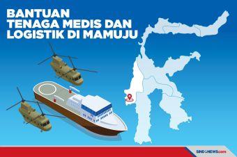 Bantuan Tiba di Mamuju, Bawa Tenaga Medis dan Logistik