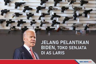 Jelang Pelantikan Biden, Toko Senjata di Amerika Serikat Laris