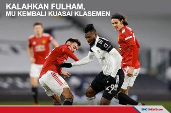 Kalahkan Fulham 1-2, Man United kembali Kuasai Klasemen