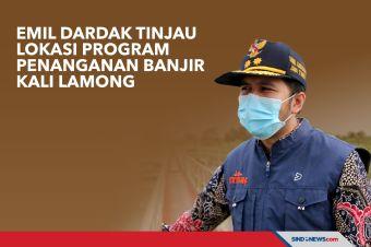 Emil Dardak Tinjau Lokasi Program Penanganan Banjir Kali Lamong