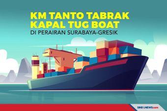 KM Tanto Tabrak Kapal Tug Boat di Perairan Surabaya-Gresik
