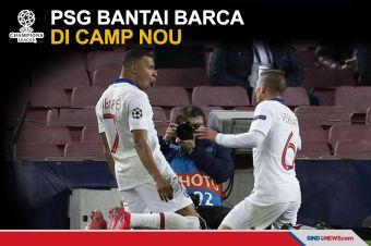 Mbappe Cetak Hattrick, PSG Hancurkan Barca di Camp Nou