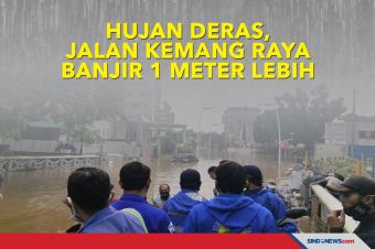 Hujan Deras, Jalan Kemang Raya Banjir hingga 1 Meter Lebih